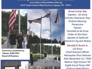 Casket Flag Raising Ceremony - Irvine/Burris