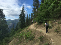 Hiking down from Icicle ridge