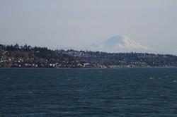Mt Rainier behind West Seattle