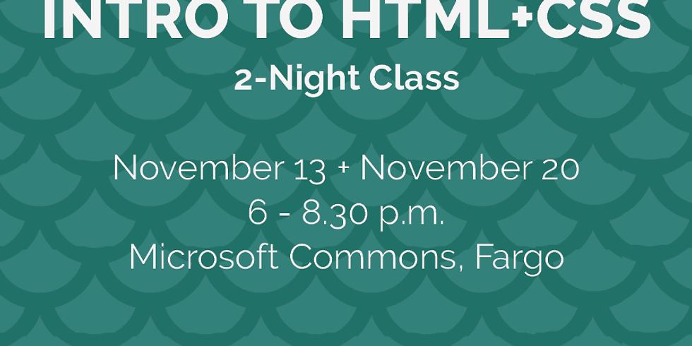 Intro to HTML+CSS (Night 1)