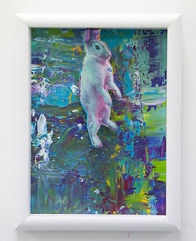 study of rabbit,2019collage&acrylic.jpg