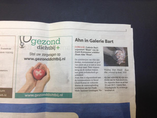 Short text about solo exhibiton in dutch newspaper