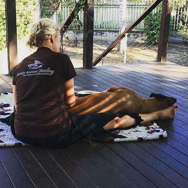 Imani loving her massage.jpg