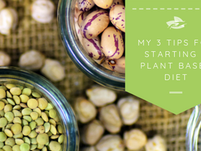 My 3 Tips For Starting a Plant Based Diet