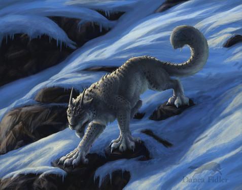 Snow Leopard/ Lizard Creature