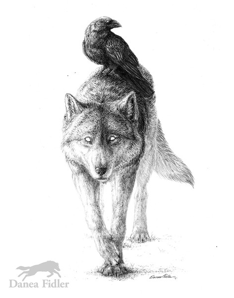 The Two Guides - The Wolf & Raven