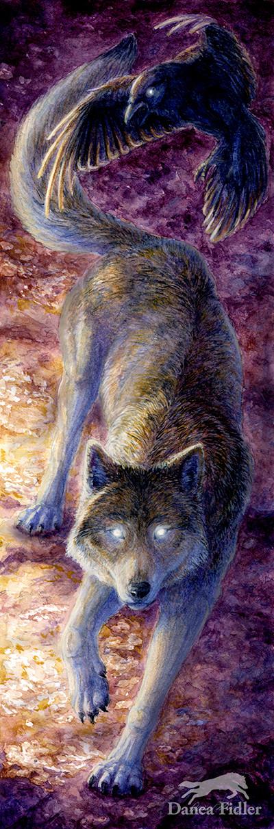 Wolf & Raven Totem