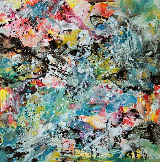Terre en colère - Huile sur toile - 40x40 - Sélection Art today - Le portrait dans l'Art contemporain - www.plazamargarita.com