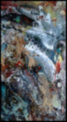 Abstrait 080117 - Huile sur toile - PLAZA