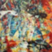 4 coins_huile/ toile_19x19_Plaza Margarita