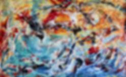 Terre en colère : Le chant des sirènes - Huile/toile - plazamargarita.com