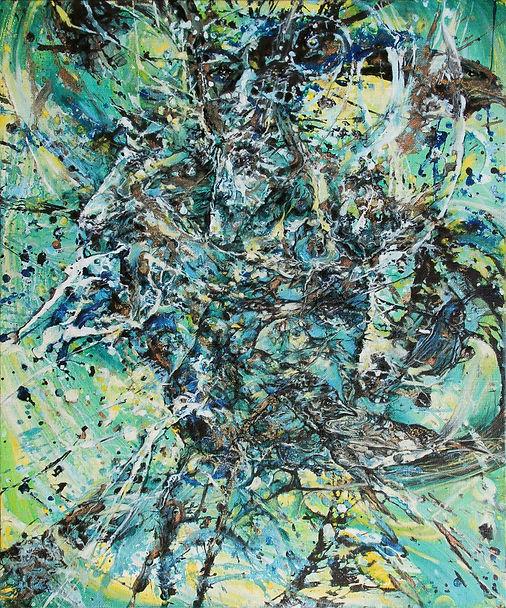 Entre ciel et terre_Huile/toile_www.plazamargarita.com