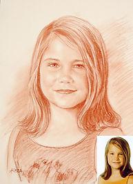 Portrait d'après photo à la sanguine sur Canson - www.plazamargarita.com