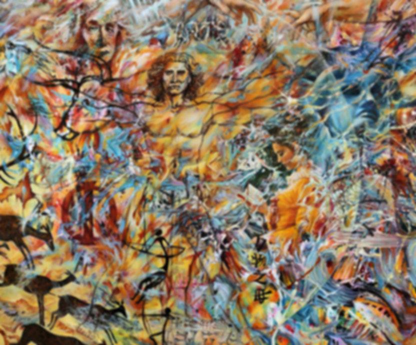 Fragments d'humanité - Huile sur toile - www.plazamargarita.com