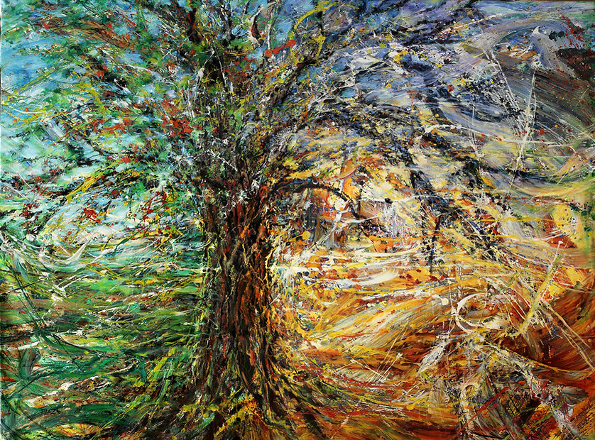 Art contemporain - Huile/toile - Les temps de la métamorphose - www.plazamargarita.com