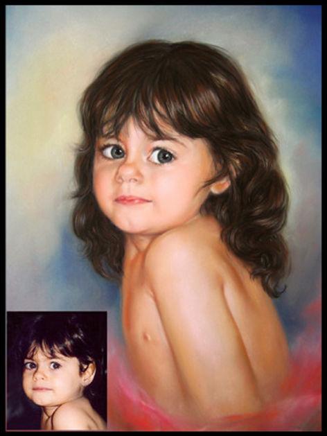 Olwen - Portrait pastel sec - www.plazamargarita.com