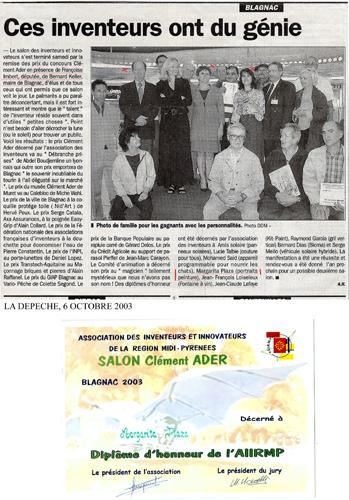 2003 Salon Clément Ader