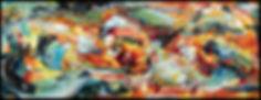 Terre en colère : Rouge océan - Huile/toile - www.plazamargarita.com