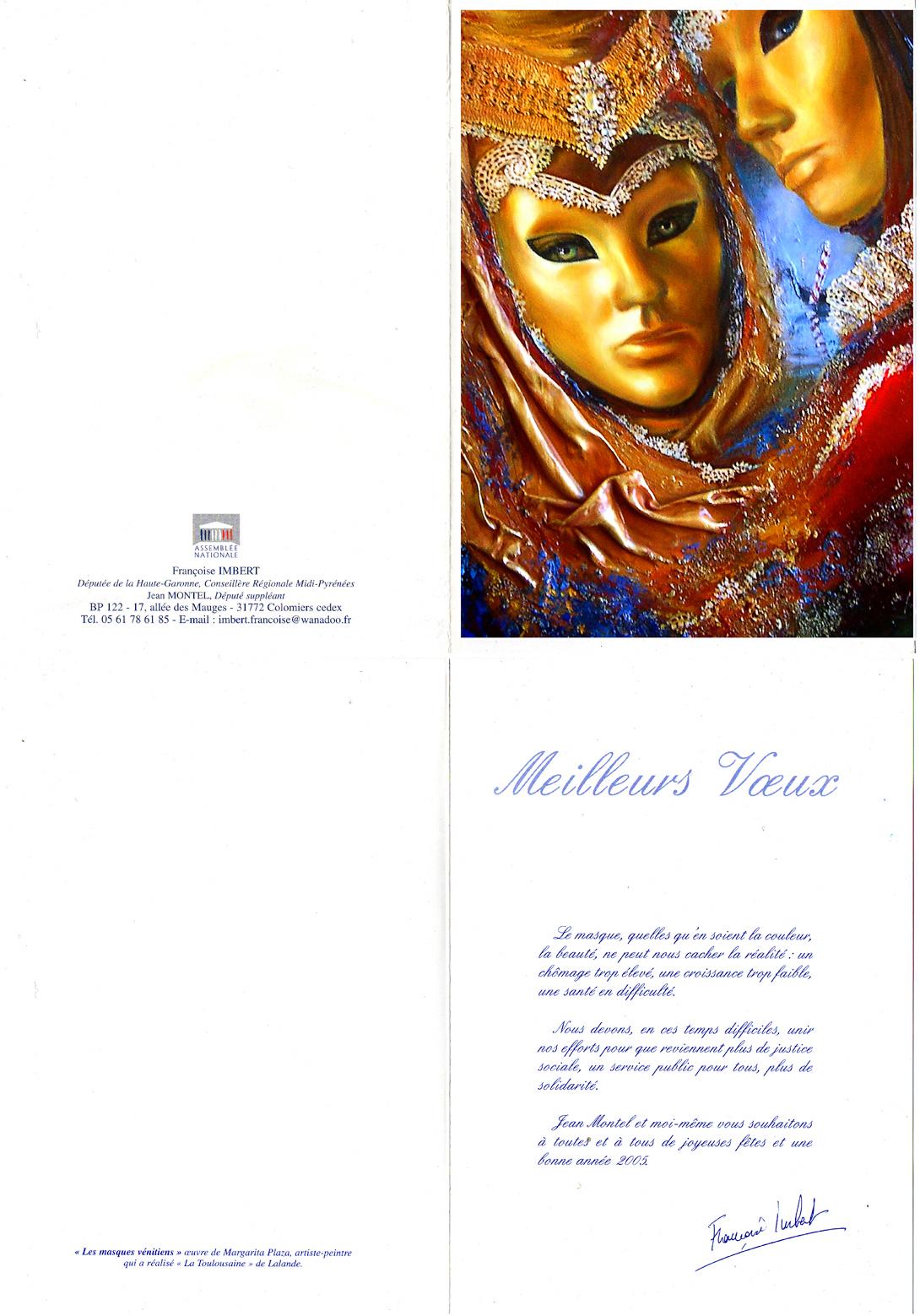 Masques vénitiens-Carte de voeux