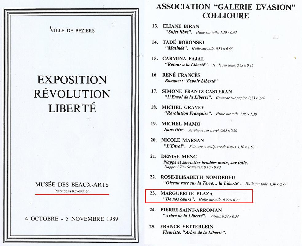 Exposition Révolution Liberté'