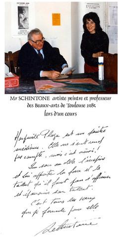 Mr Schintone photo et lettre
