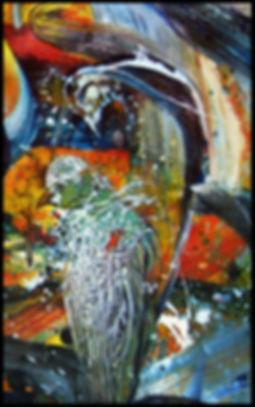 IAH (détail 2) - Huile sur toile - www.plazamargarita.com