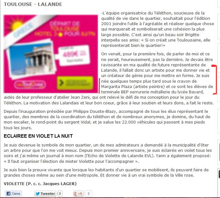 Article info Toulouse Lalande sur la