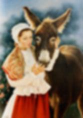 Melle et le Lugagnol - Huile sur toile - www.plazamargarita.com
