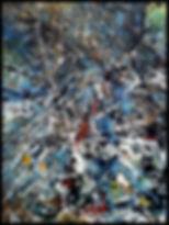 Abstrait 070616 (détail) - Huile sur toile - PLAZA