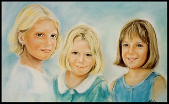 Trois soeurs - Pastel sec - www.plazamargarita.com