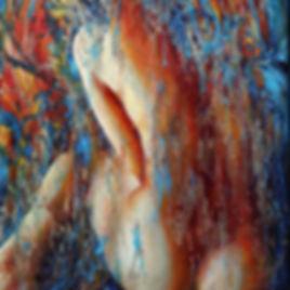 Nu 'Cloé' - Huile sur toile - www.plazamargarita.com