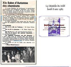 1982 Expos des Peintres Cheminots