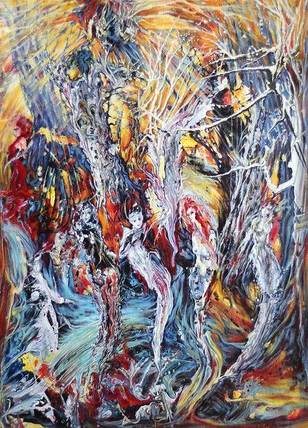 Terre en colère : Conciliabule - Huile/toile- Sélection Arts et Lettres, Expositon Galerie Artiempo - Toulouse - www.plazamargarita.com