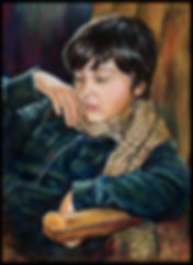Portrait jeune homme - Pastel sec - www.plazamargarita.com