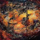 Tryptique, Huile sur toile - abstrait - www.plazamargarita.com
