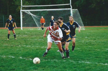 Me playing soccer in high school.