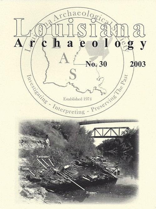 Number 30, 2003 (published 2010)