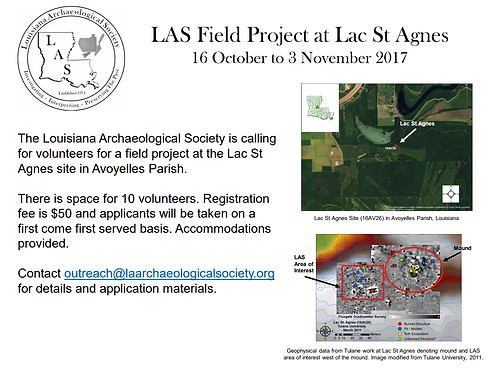 LAS Field Project at Lac St Agnes