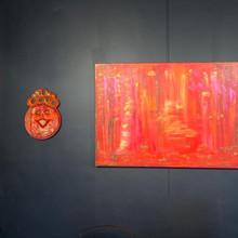 Interieurconcept : schilderij en beeld