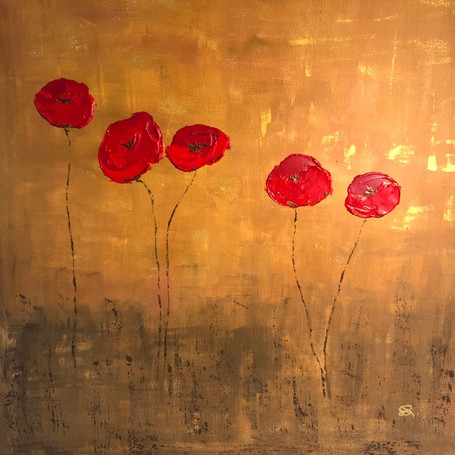Poppies Entwined Ocre.jpg