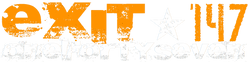 Exit 147 Logo - Trasparent White