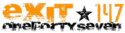 Exit 147 Logo - Transparent Black