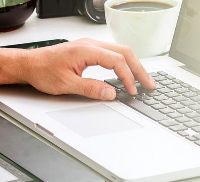 la scrittura sul computer