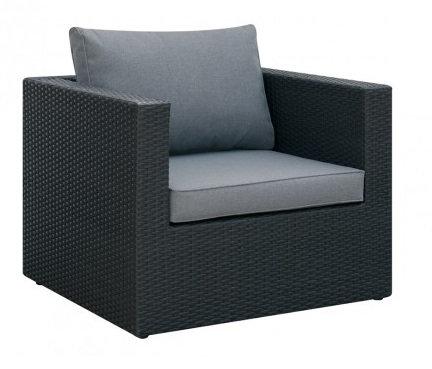 Arm Chair Espresso/Grey