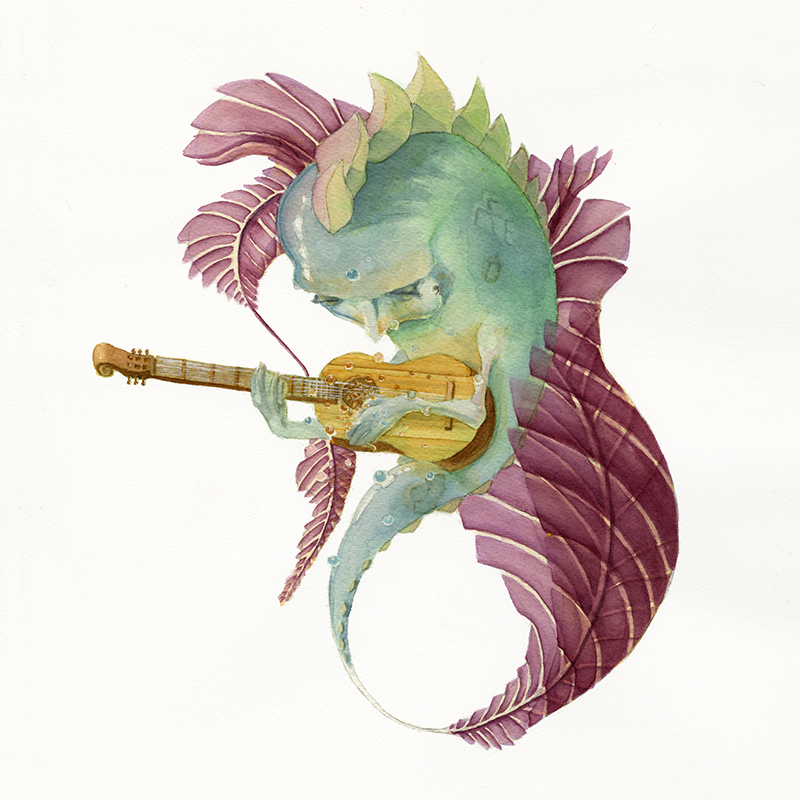 Fish_Painting_Watercolor_Art_Acoustic Gu