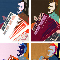 The Accordion Player_Painting_Art_Gouach