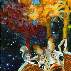 The Astronomer_Giraffe_Squirrel_Painting