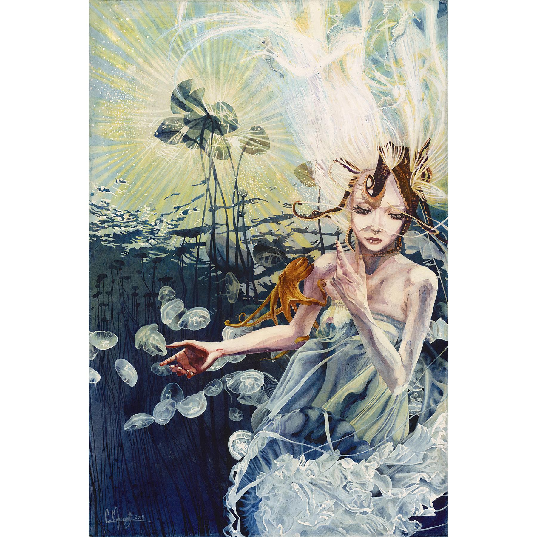 Mermaid_Watercolor_Painting_Seahorse_Oct