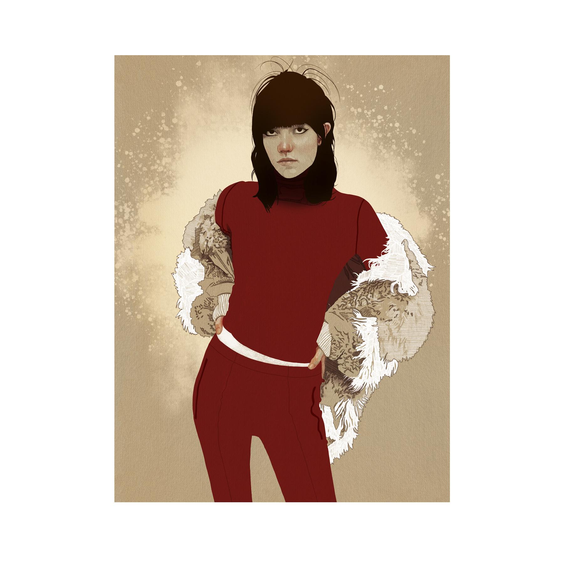 Red_Fashion Illustration_Digital Art_Pro