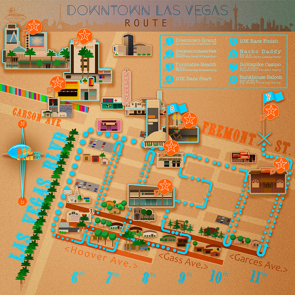Map_Las Vegas_Big Game 10K_Illustration_
